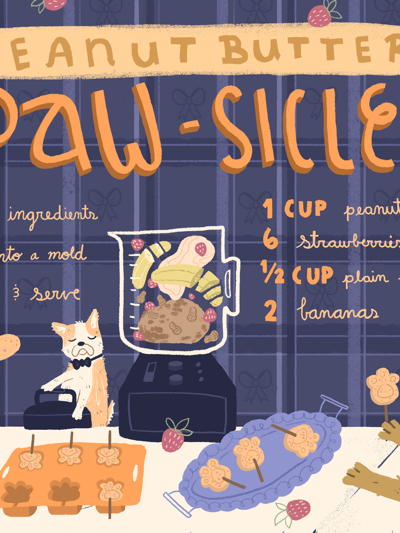 Peanut Butter Paw-sicles