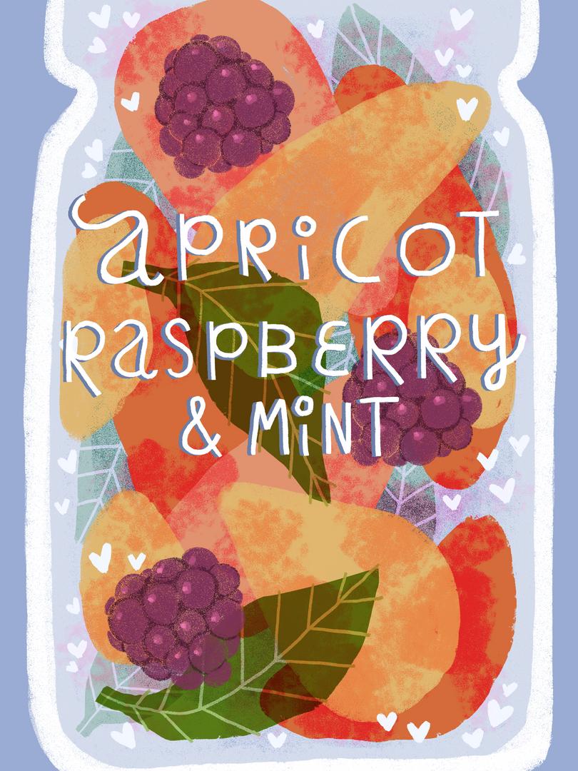 Apricot, Raspberry & Mint
