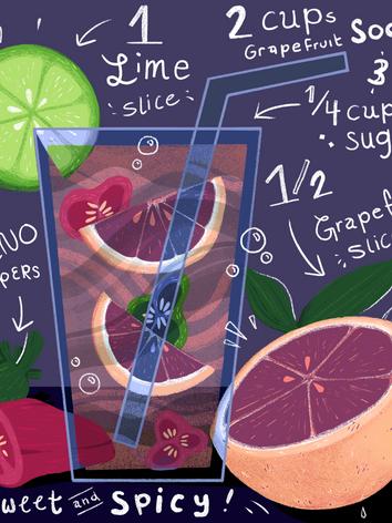 Grapefruit & Jalapeno Mocktail