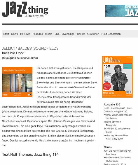 Jellici Baldes Soundfields Review Jazzth