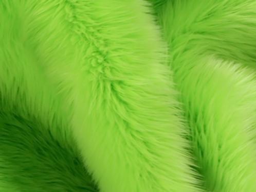 Efutro Lime Green Shaggy - Quarter Yard Piece