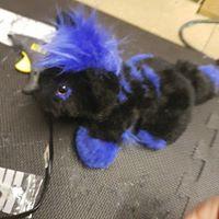 blue black plushie