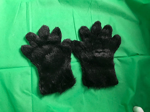 5 Digit Hand Paws - Black