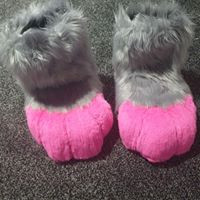 pink and grey feetpaws