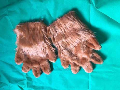 5 Digit Hand Paws - Brown