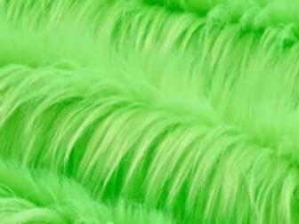 UV Neon Green Luxury Shag - Half Yard Piece