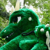 green dragon plushie jett