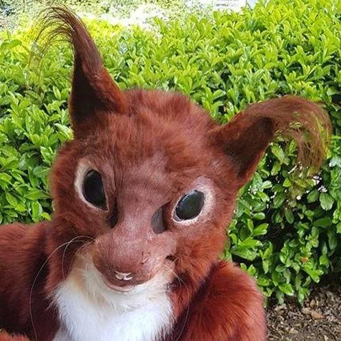 Squirrel fursuit head base