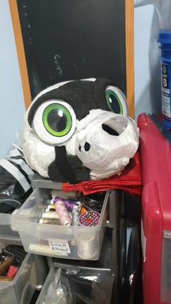3d printed canine or critter fursuit head base