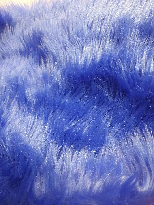 Quarter yard royal blue luxury shag