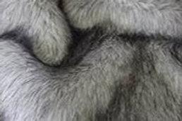 Silver Realistic Wolf - Half Yard Piece