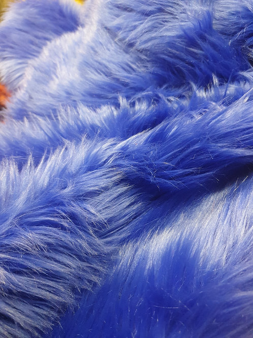 Royal blue luxury shag per 1 yard