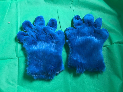 5 Digit Hand Paws - royal blue
