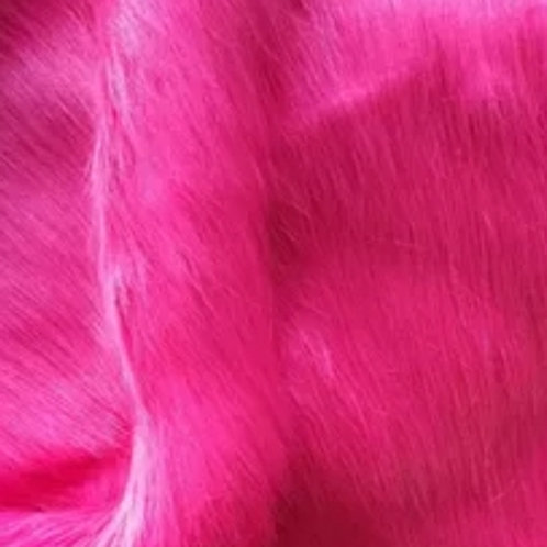 Hot pink thick longpile