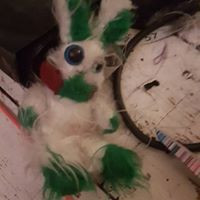 red green white cybunny christmas plushie flopsy