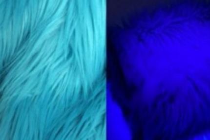 UV Reactive Turquoise Ecoshag - Half Yard Piece