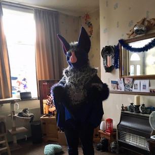 Bat partial fursuit furry Tailor Airi Mipsy purple grey blue pink fleece wings bat