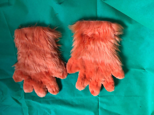 5 Digit Hand Paws - Orange Luxury Shag