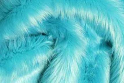 Turquoise Ecoshag - Half Yard Piece