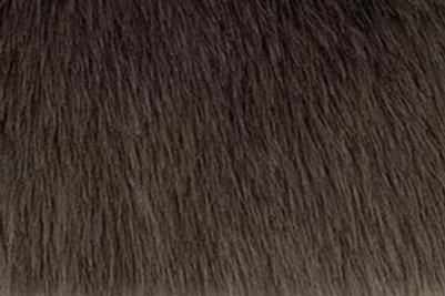 Dark Truffle Grey Howl Teddy - Half Yard Piece