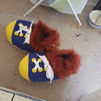 Conker squirrel cosplay feet paw feetpaw shoes mascot trainers