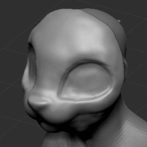 Kemono 3d printed head base