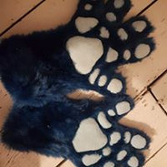 dragon handpaws with silicone pads blue