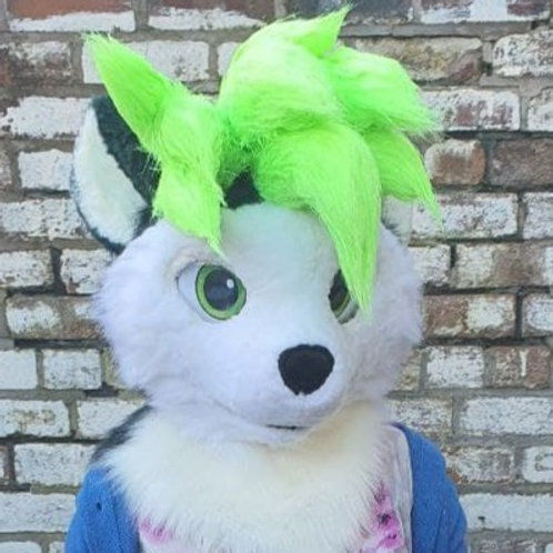 Punky Hedgehog Mini Partial Kemono fursuit