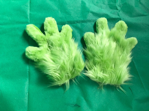 4 Digit Hand Paws - Lime Green