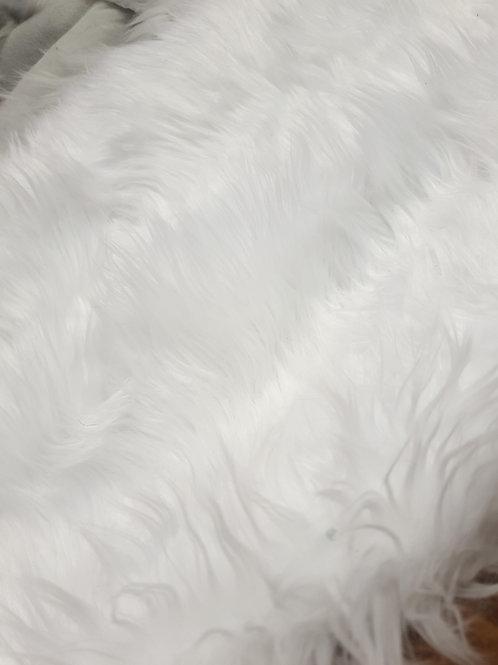 Bright white luxury shag 40cmx150cm