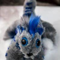 zarconite blue fox grey plushie teddy