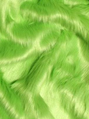 Lime Green Ecoshag - Half Yard Piece