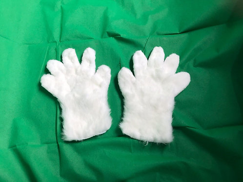 5 Digit Hand Paws - White