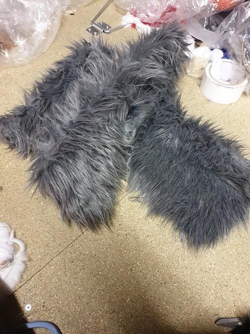 Light mid toned grey luxury shag 150cm x 20cm