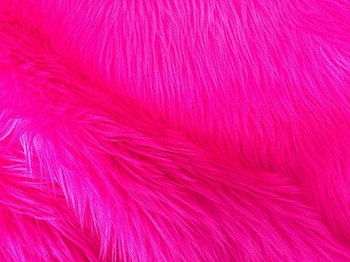 Magenta Pink Howl Fox - Half Yard Piece