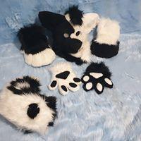 Fursuit partial hyena yeen yin yang fursuit furry tailor Mipsy premade sold