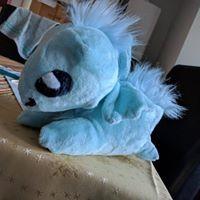 dragon plushie blue