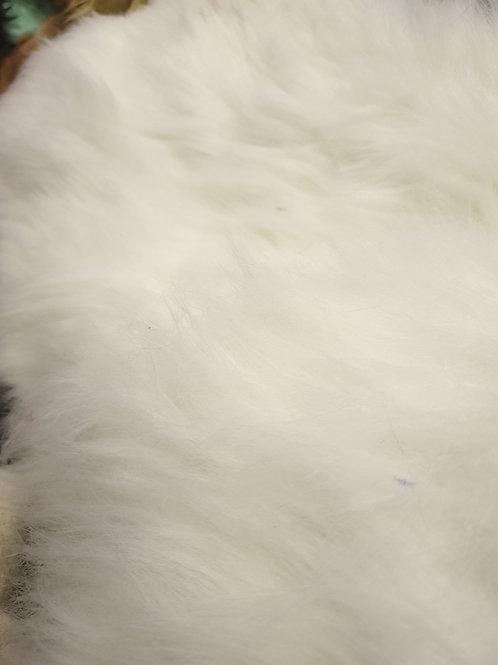 Long ivory white fox from american crscraft 94cmx40cm