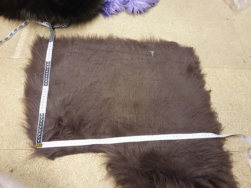 Brown Furry Tailor fox - 55cmx40cm