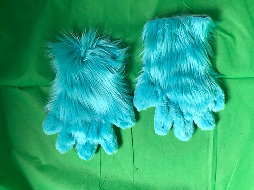 5 Digit Hand Paws - Turquoise