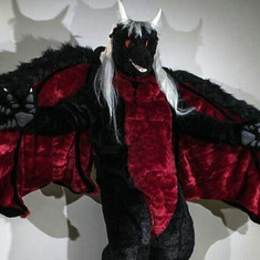 fullsuit fursuit dragon Dmitrii Wrathoss hair horns tail claws