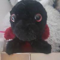 black red murgon plushie dragon