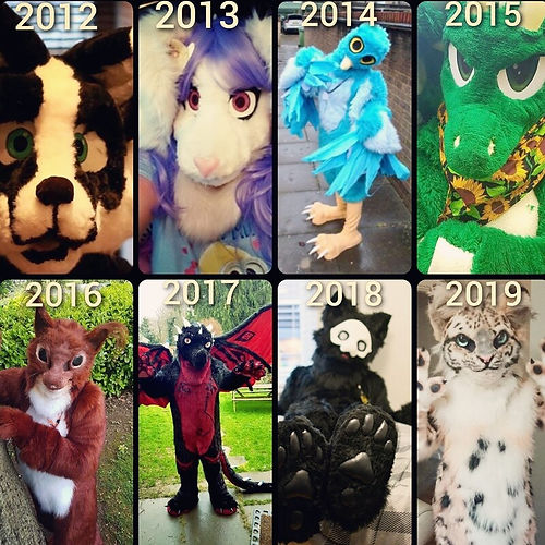 Fursuits 2012 - 2019