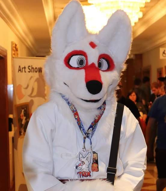 Trix custom full fursuit uk kitsune fox white red japan