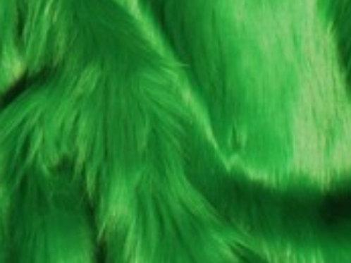 Kelly Green Ecoshag - Half Yard Piece