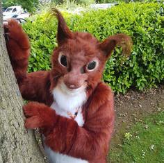 Squirrel fursuit rust natural realistic