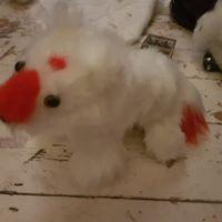 red white Trix kitsune plshie