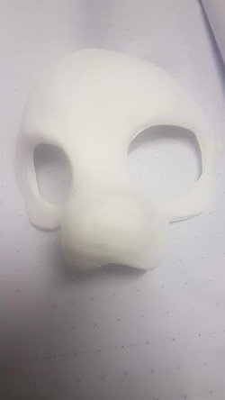 mask painted resin