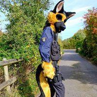 German shepherd blaze fursuit police dog alsatian fursuit Furry Tailor Mipsy