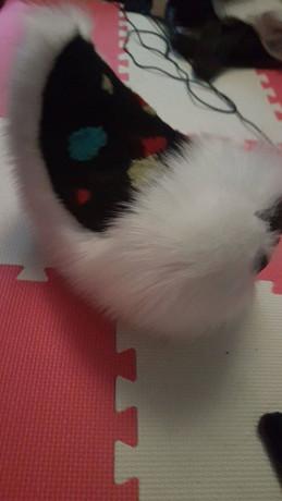 Fursuit costume spots custom scraps black whit rabbit hare deer bunny pretty tail